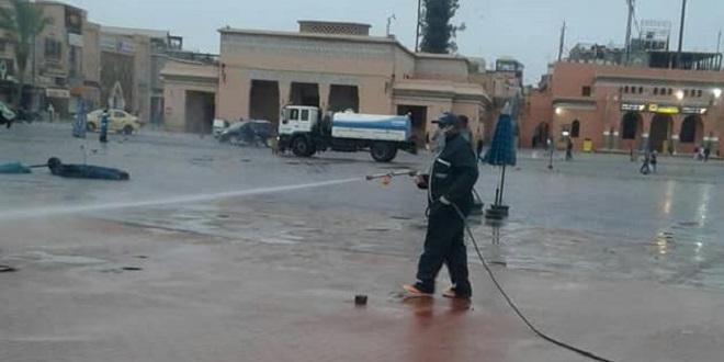 Marrakech: Stérilisation des espaces publics