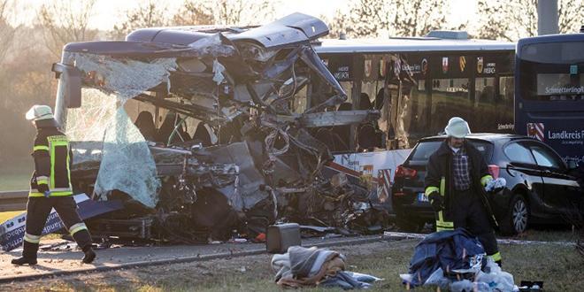 Collision de deux bus scolaires en Allemagne