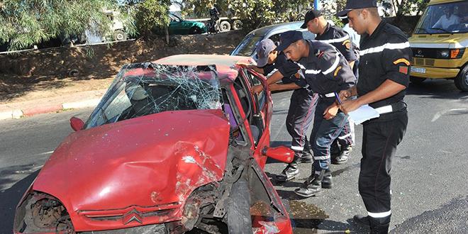 Accidents de la circulation: 21 morts et 1546 blessés en une semaine