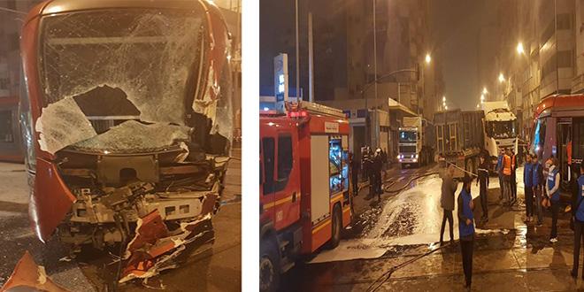 Encore un grave accident de tramway à Casablanca