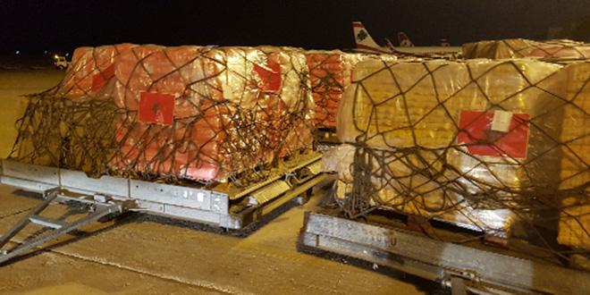 Arrivée à Beyrouth de l'aide marocaine médicale et humanitaire