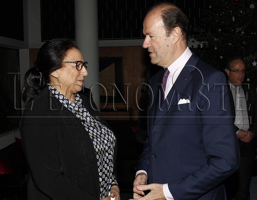 Bahija Simou et l'ambassadeur de France au Maroc Jean-François Girault