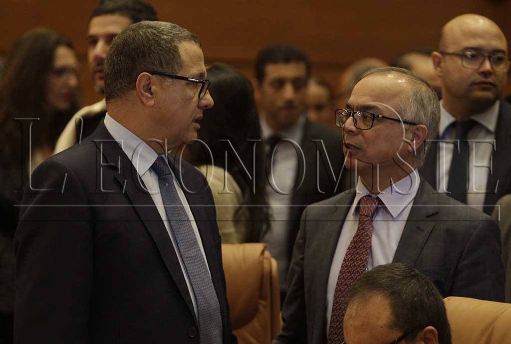 Mohamed Boussaïd et Chakib Benmoussa