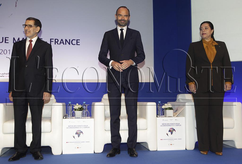 Saâdeddine El Othmani, Edouard Philippe et Miriem Bensaleh-Chaqroun