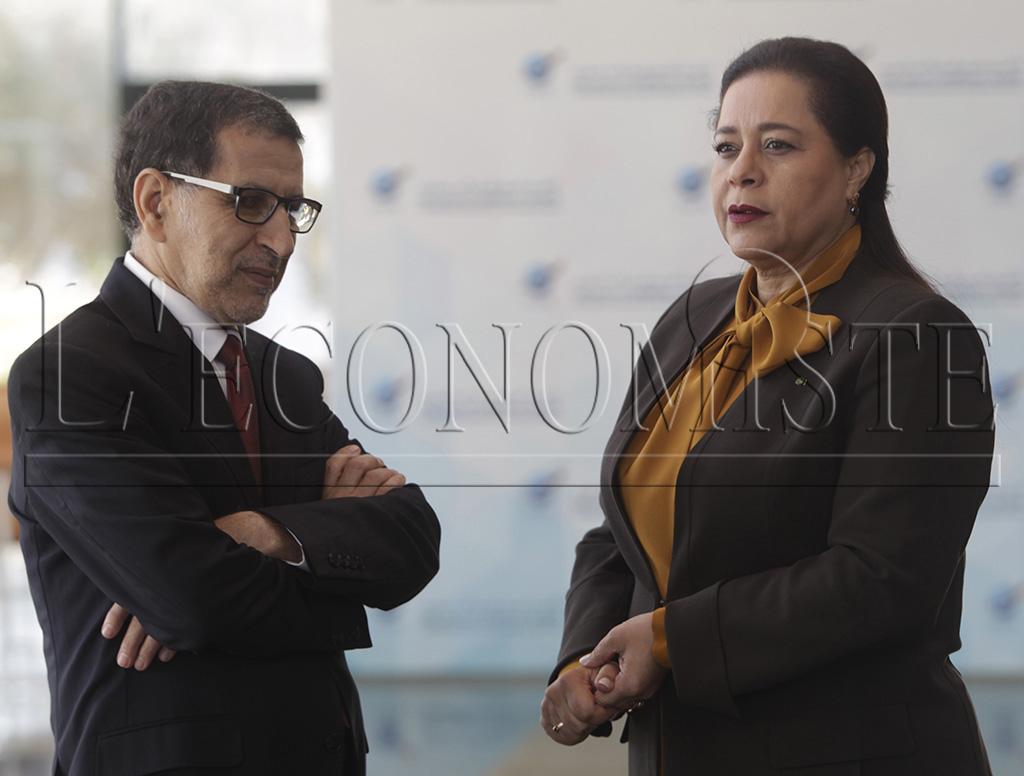 Saâdeddine El Othmani et Miriem Bensaleh-Chaqroun