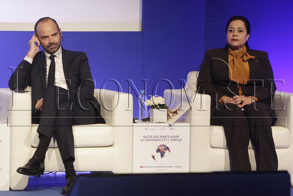 Miriem Bensaleh-Chaqroun et Edouard Philippe