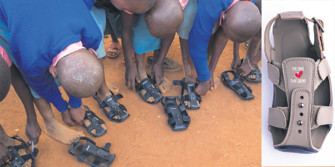 La chaussure qui s'allonge
