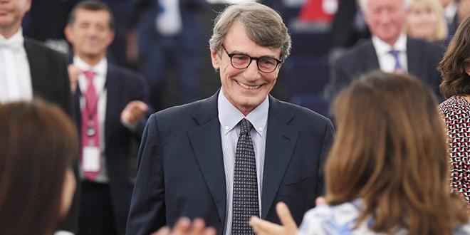 David Sassoli nouveau président du Parlement européen
