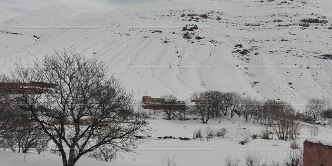 VIDEO/ Haut-Atlas : La neige couvre Douar Ait Attou Moussa