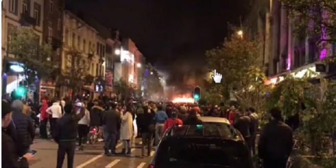 Foot : Heurts à Bruxelles après la qualification du Maroc