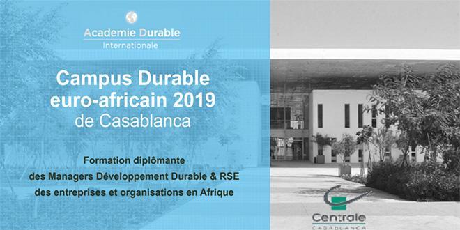RSE : Campus Durable euro-africain à Casablanca
