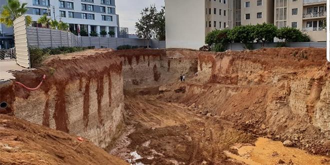 Rabat : Effondrement des parois d'un chantier en plein Hay Riad