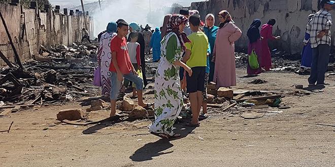 DIAPO/ Baraques ravagées à Fès : Un acte prémédité ?