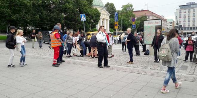 Attentat en Finlande: un mort et plusieurs personnes poignardées