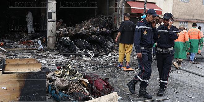 Fès: Incendie ravage un marché informel