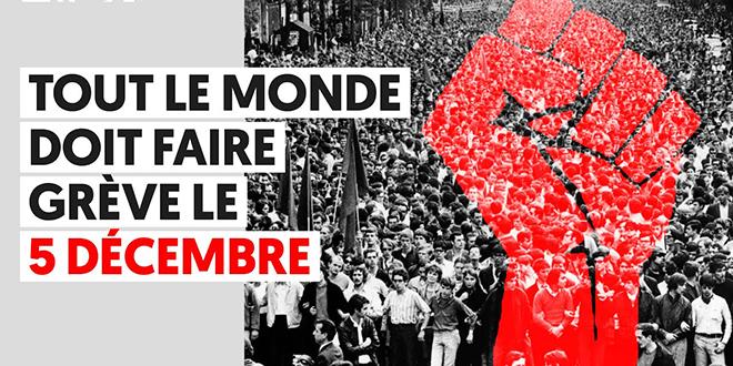 """Grève du 5 décembre: La France s'attend à un """"jeudi noir"""""""