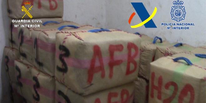 3 tonnes de haschich du Maroc et de Gibraltar saisies
