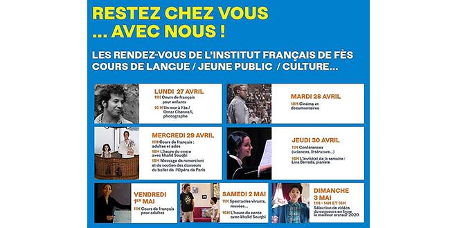 Covid19: L'Institut français de Fès vient jusqu'à vous !