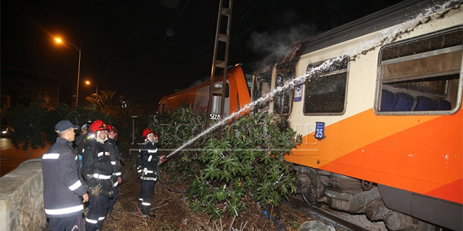 DIAPO/ ONCF: Un train prend feu