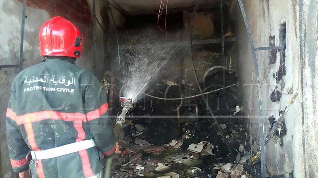 Les pompiers ont pu maîtrisé le feu