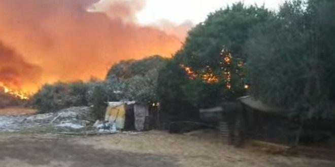 Tanger: Un incendie à proximité du centre pour malades du Covid