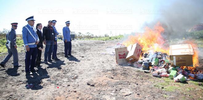 Drogues-Contrebande: Plus de 30 tonnes de produits incinérées à Dakhla