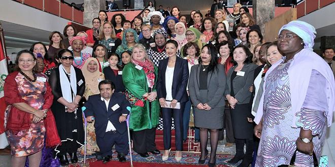 Bazar international de Bienfaisance du Cercle diplomatique: Lalla Meryem préside l'inauguration