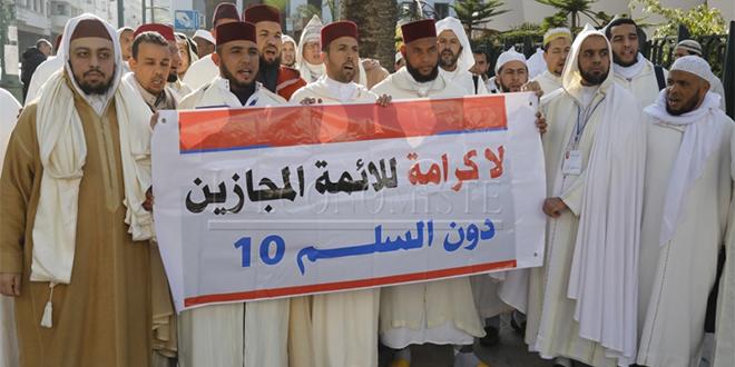 DIAPO/ Rabat: Des imams manifestent
