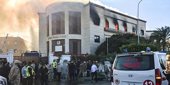 Le ministère libyen des Affaires étrangères attaqué à Tripoli