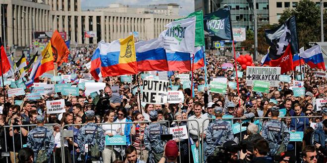 Manifestations en Russie pour des élections libres