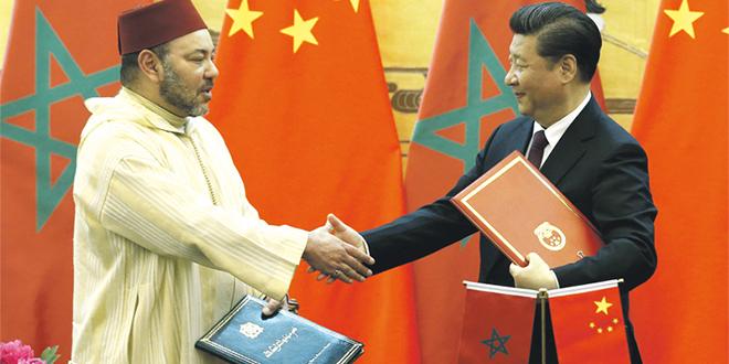Le Roi Mohammed VI s'entretient avec Xi Jinping