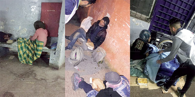 Marrakech: Les bénévoles Jood dans la rue avec les sans-abri