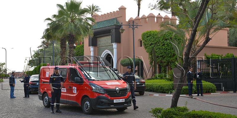 DIAPO-Marrakech : Incendie à l'hôtel La Mamounia
