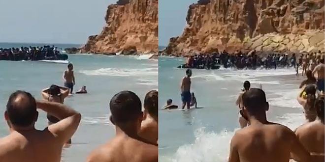 VIDEO/ Espagne : Des migrants débarquent devant vacanciers médusés