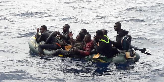 Plus de 100 migrants secourus au large des côtes marocaines