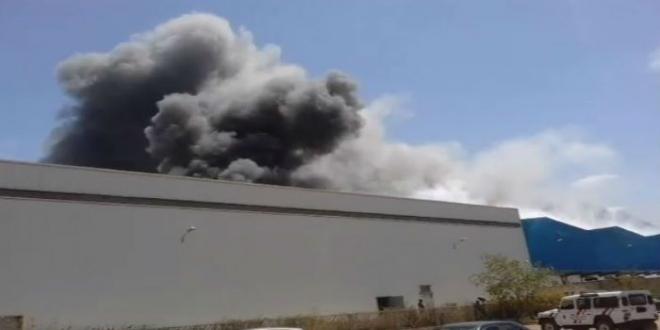 Méga-incendie dans un dépôt à Mohammedia