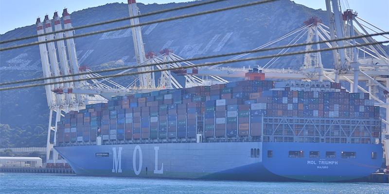 TangerMed : Le Triumph de MOL, plus grand porte-conteneurs entre en quai