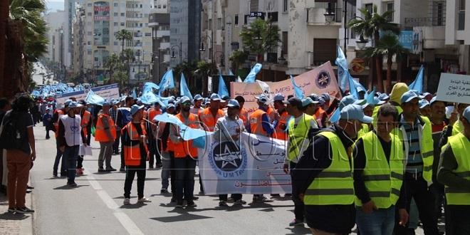 DIAPO/ Tanger : Un 1er mai haut en couleurs, faible en participation