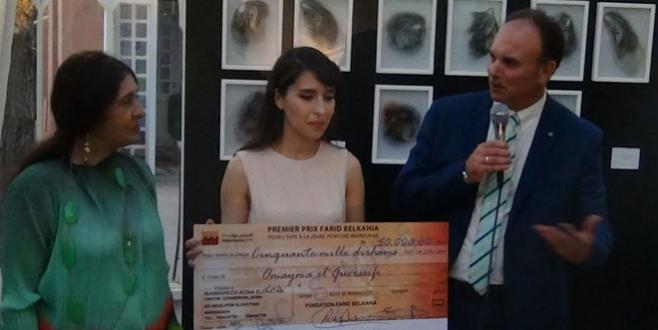 Première lauréate du prix Farid Belkahia