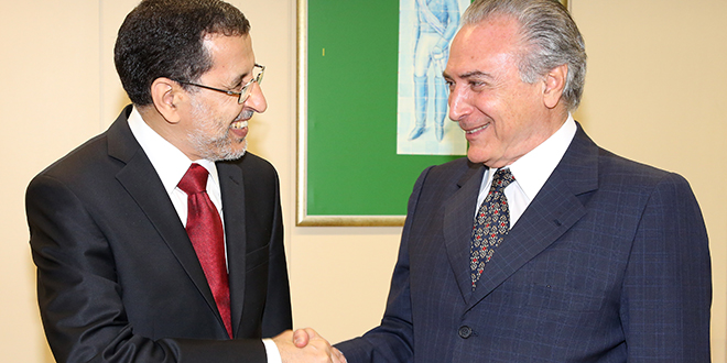 Brésil : El Othmani reçu par le président Temer