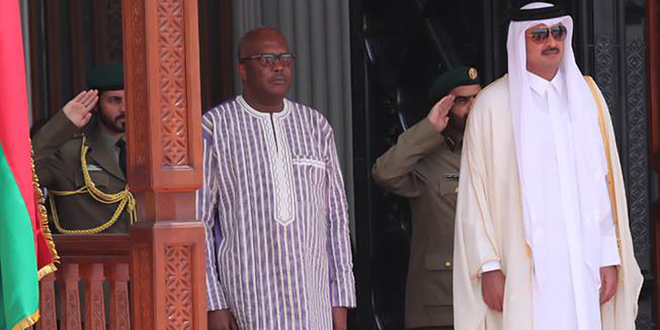 L'Émir du Qatar au Burkina Faso