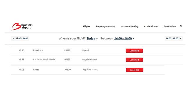 RAM : De vols vers Bruxelles annulés