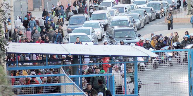Sebta : Ouverture exceptionnelle des frontières vendredi