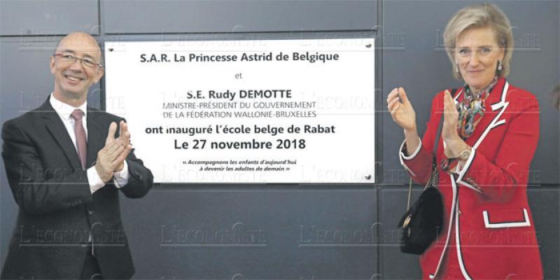 L'école belge de Rabat reçoit la princesse Astrid