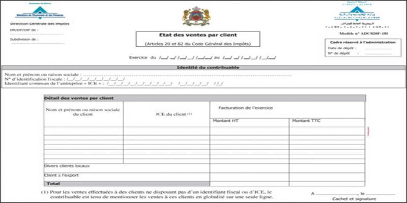 Impôts: N'oubliez pas le relevé détaillé par client