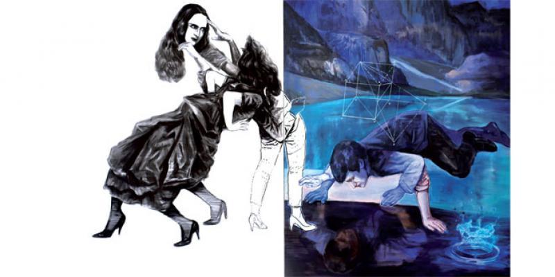 Exposition: Les «toiles dessinées» de Lekleti