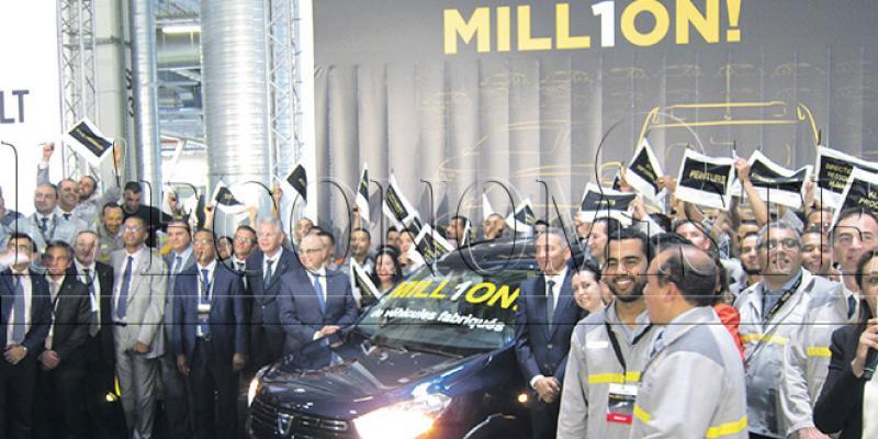 Renault fête le millionième véhicule fabriqué à Tanger