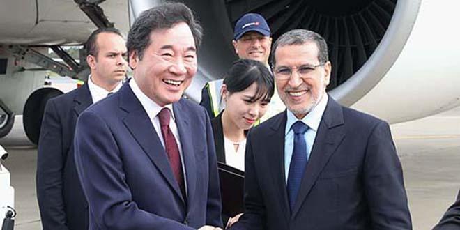 Arrivée au Maroc du premier ministre sud-coréen