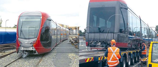 2 nouvelles rames d'Alstom livrées au tramway de Rabat-Salé