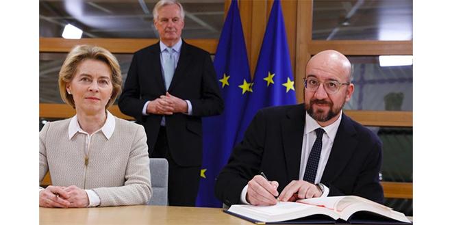 La Commission et le Conseil européens signent l'accord sur le Brexit